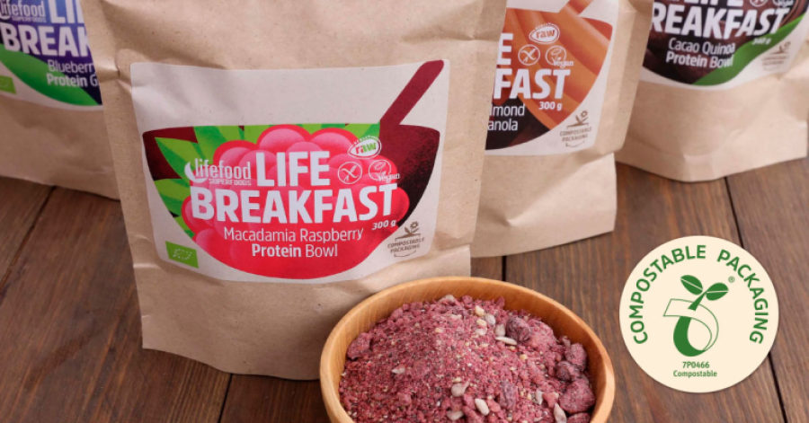 Lifefood lance des emballages 100% compostables