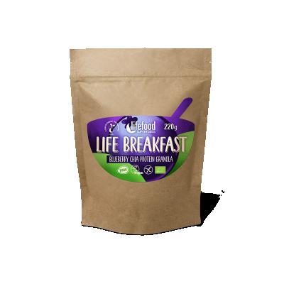 Life Breakfast Granola Myrtille Chia Protéine BIO & CRU
