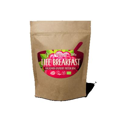 Life Breakfast Bowl Noix de Macadamia Framboise Protéine BIO & CRU