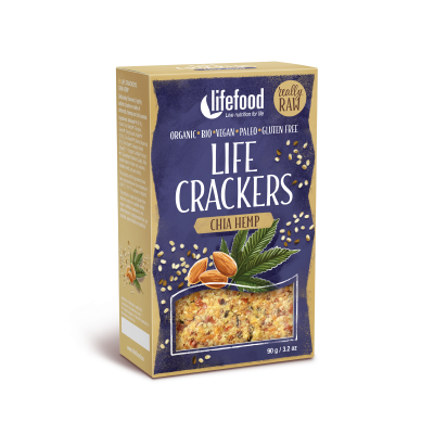 Crackers crus chanvre chia BIO