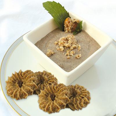 Crème-dessert banane-chia à la menthe
