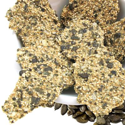 Crackers au quinoa et graines de courge