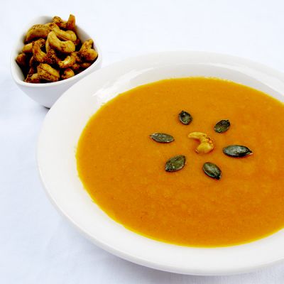 Soupe de potimarron aux noix de cajou
