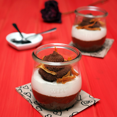 Mousse légère chocolat-orange