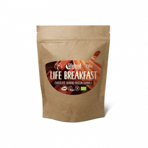 Life Breakfast Granola Chocolat Amande Protéine BIO & CRU