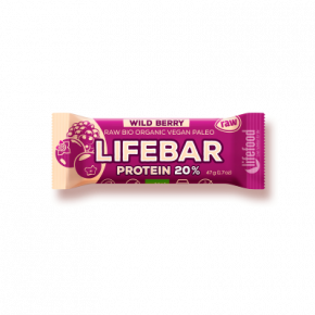 LIFEBAR PROTÉINÉE fruits rouges BIO & CRU