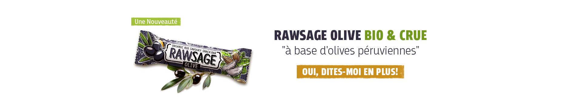 Nouveaux barre Rawsage olive